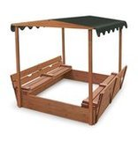 Badger Basket Cedar With Canopy and Two Benchs, Convertible