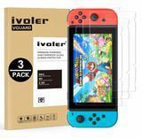 ivoler Nintendo Switch Tempered Glass Screen Protector, 3-pack