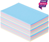 "1InTheOffice 3 x 5"" Ruled Pastel Flashcards, 300-Count"
