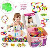 TS Yuniku Pop Beads for Kids 550-piece Jewelry Making Kit