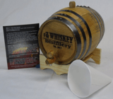 Red Head Barrels Engraved 2 Liter Charred American White Oak Aging Barrel