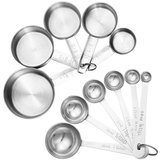 Accmor 11-Piece Stainless Steel Measuring Spoons/Cups Set