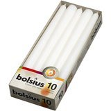 BOLSIUS Long White Taper Candles