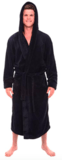 Alexander Del Rossa Men's Fleece Solid Colored Robe