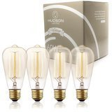 Hudson Lighting Antique Style Edison Dimmable Bulb (60w 4-Pack)