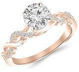 Houston Diamond District 14k Gold Twisting Infinity Split Shank 1/2 Carat T.W. Diamond Engagement Ring