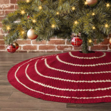 LimBridge Rustic Stripe Christmas Tree Skirt