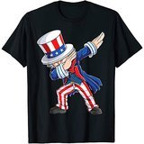 Lique Patriotic 4th of July shirts for kids Dabbing Uncle Sam