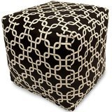 Majestic Home Goods Links Indoor/Outdoor Beanbag Ottoman Cube