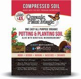 Organic Plant Magic Compressed Organic Potting Soil for Garden and Plants