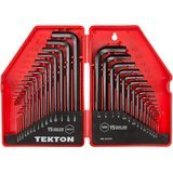 TEKTON 30-Piece Hex Key Wrench Set- Inch/Metric